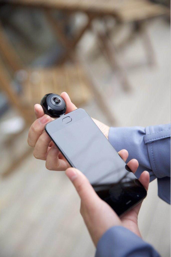 Xiaomi MADV Mini 13MP CMOS Sensor 360 Degree Panorama Camera VR for Huawei Android Smart Mobile Poco Phone Pocophone F1 Type C