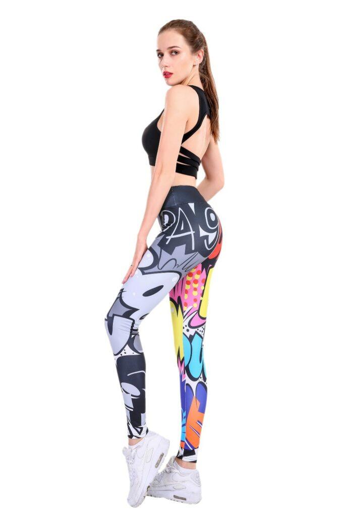 CHRLEISURE Women Digital Printing Leggings Workout