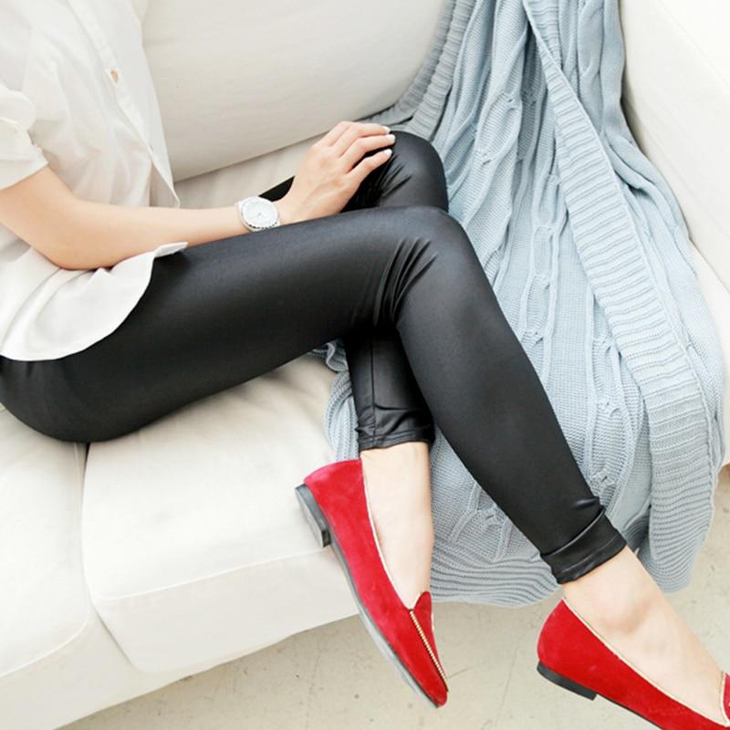 S-3XL New Autumn 2019 Fashion Faux Leather Sexy Thin Black
