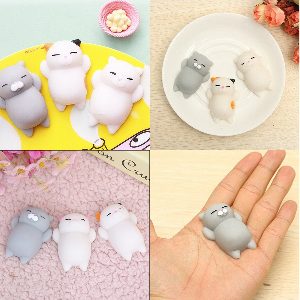 Dropshipping Cute Mochi Squishy Cat slow rising Squeeze Healing Fun Kids Kawaii kids Adult Toy Stress Reliever Decor