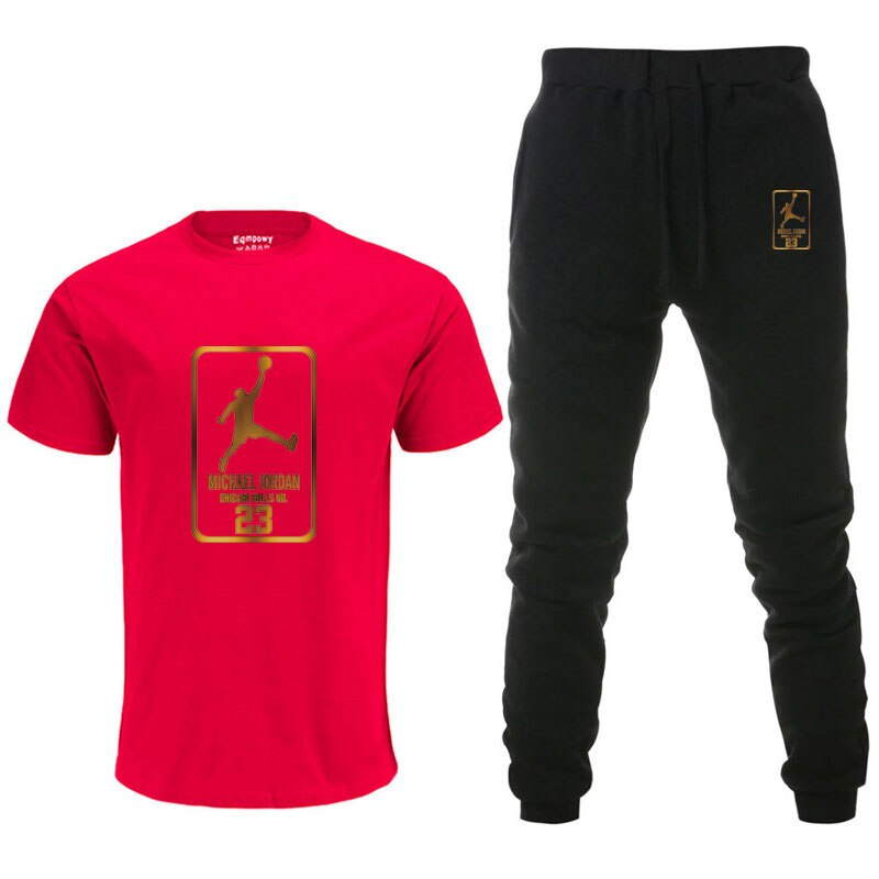 Men's Sets AliExpress T Shirts+pants Two Pieces Sets Casual Tracksuit Male Tshirt