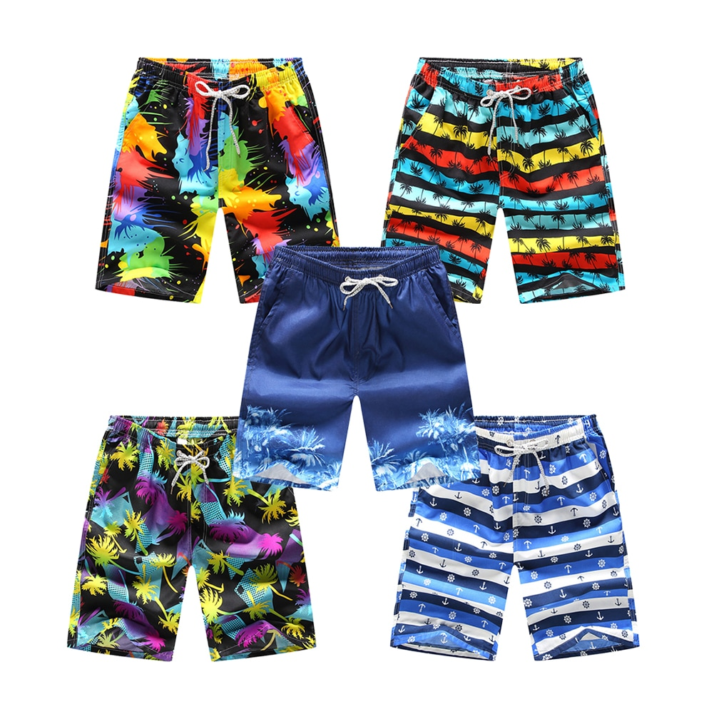 Men's Board Shorts Casual Quick-Drying Beach Pants Summer Pants Knee Length