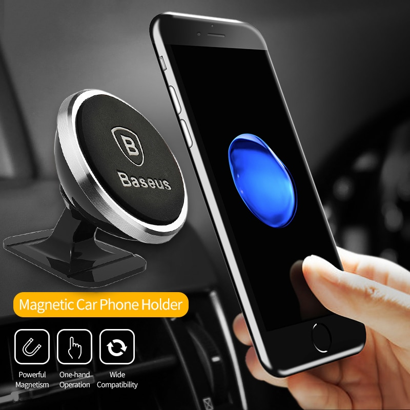 Mobile Phone Holders & Stands Baseus Magnetic Car Phone Holder For iPhone XS X Samsung Magnet Mount