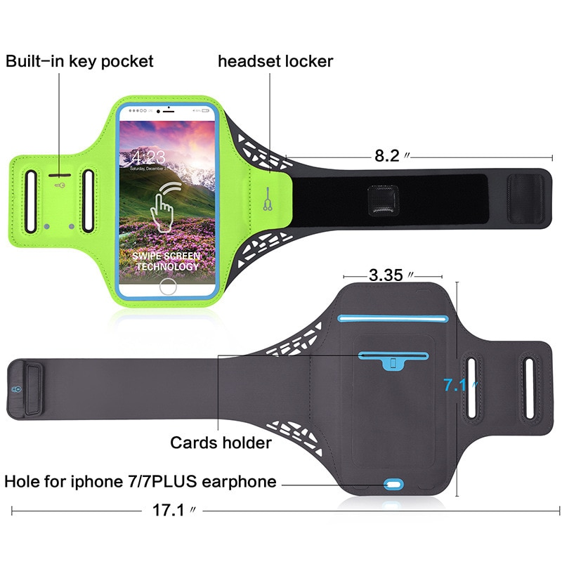 Running arm bag outdoor sports bag arm bag outdoor running mobile phone arm with arm bag