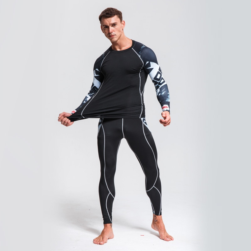 Men's Sets AliExpress Fitness Training kit Thermal Underwear