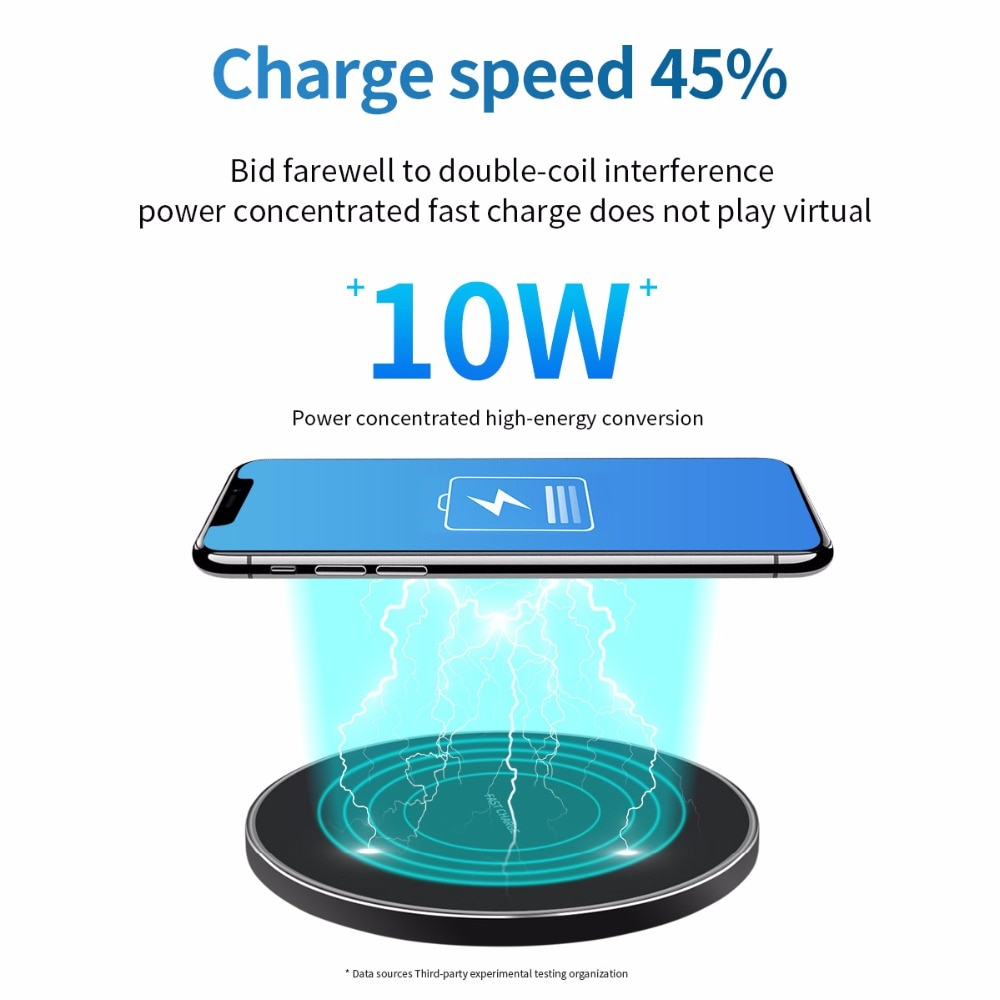 Wireless Chargers AliExpress FDGAO 10W Fast Wireless Charger For Samsung Galaxy S9/S9+ S8 S7 Note 9 S7 Edge