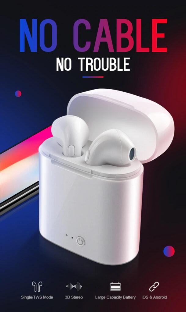 TWS 5.0 Wireless Bluetooth Earphone Stereo Earbud Headset