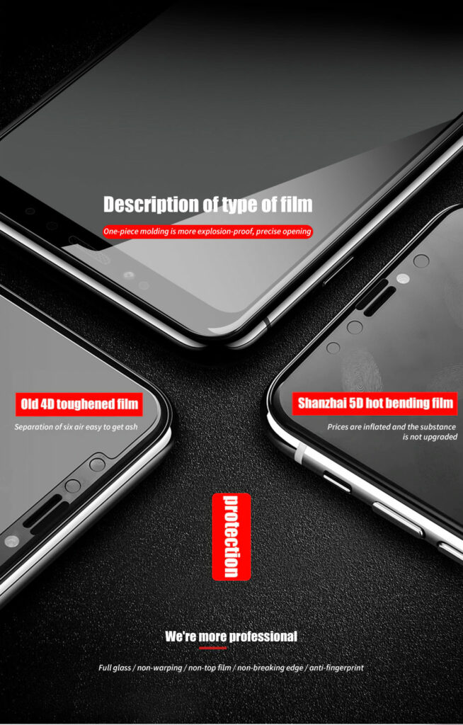 ZNP 5D Screen Protector Tempered Glass For Xiaomi Redmi