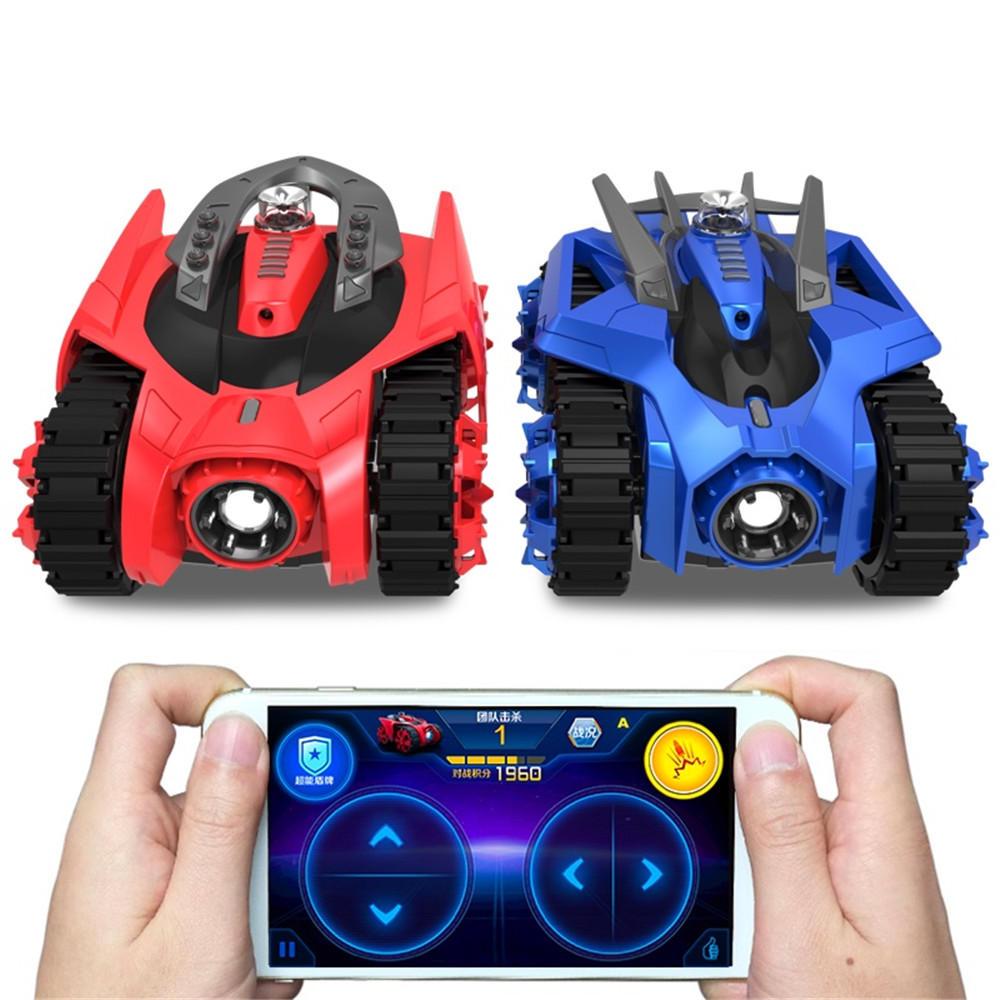2PCS Galaxy Zega LEO GONDAR Rc Car youpin Tank For XiaoMi App Control Game Compatible W/ IOS Android