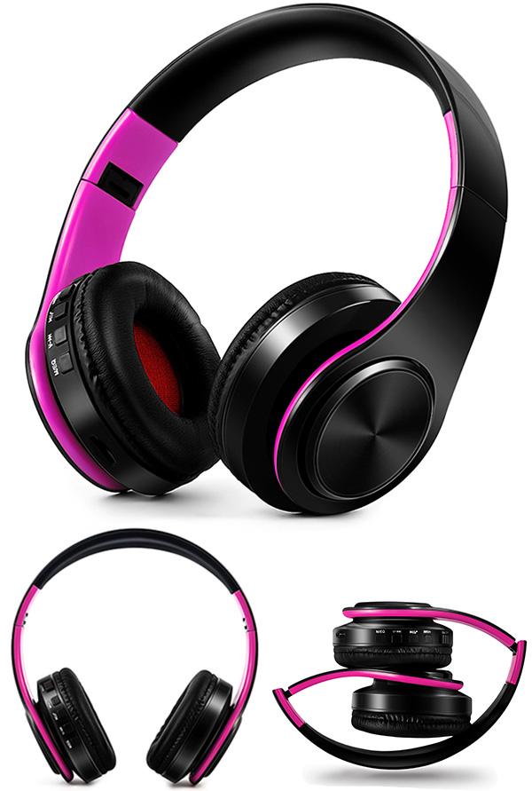 HIFI stereo earphones bluetooth headphone music headset FM