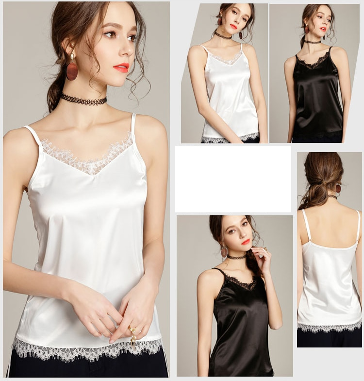 Women's Clothing Camis Top 2019 Women Sexy V Neck Basic Tops Blusas
