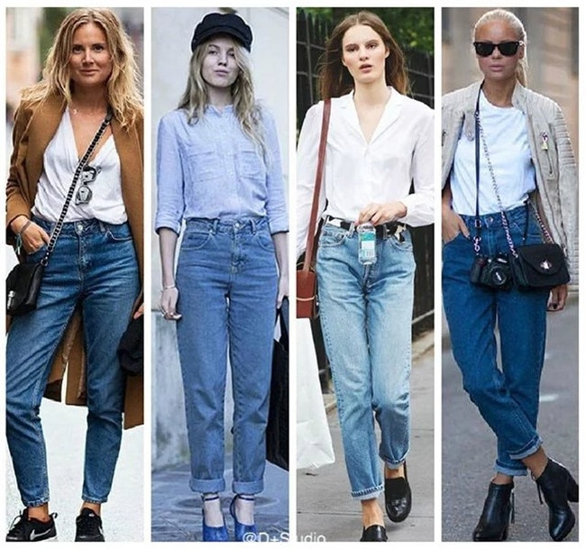 Vintage ladies boyfriend jeans for women mom high waisted jeans