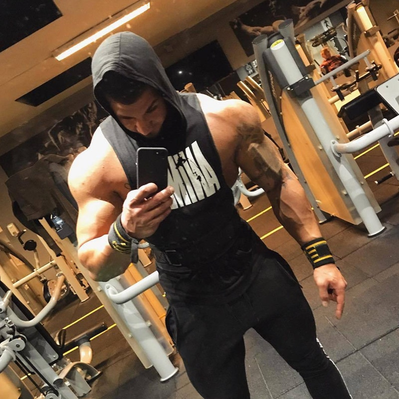 Gyms Fitness Hooded Vest Sleeveless Hoodie Casual Fashion Crossfit Workout Clothing
