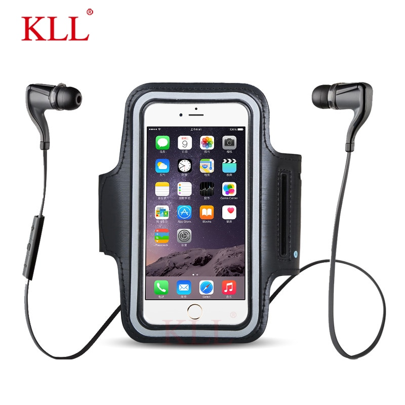 KLL Waterproof Universal Brassard Running Gym Sport Armband Case Mobile Phone Arm Band Bag Holder for iPhone Smartphone on Hand