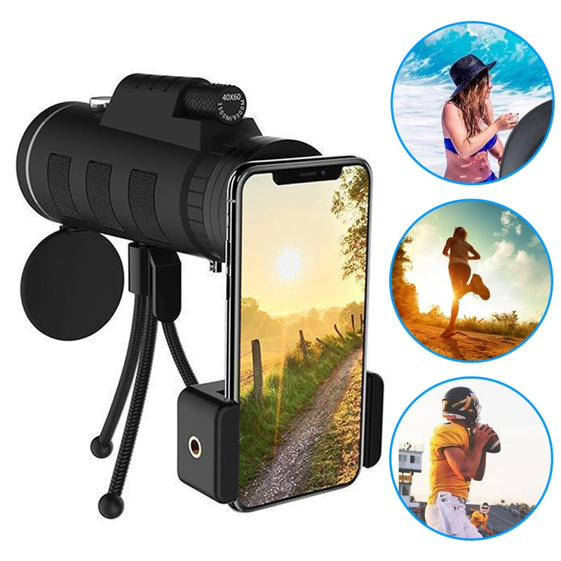 Mobile Phone Lenses AliExpress Lens for phone 40X60 Zoom for Smartphone Monocular Telescope Scope