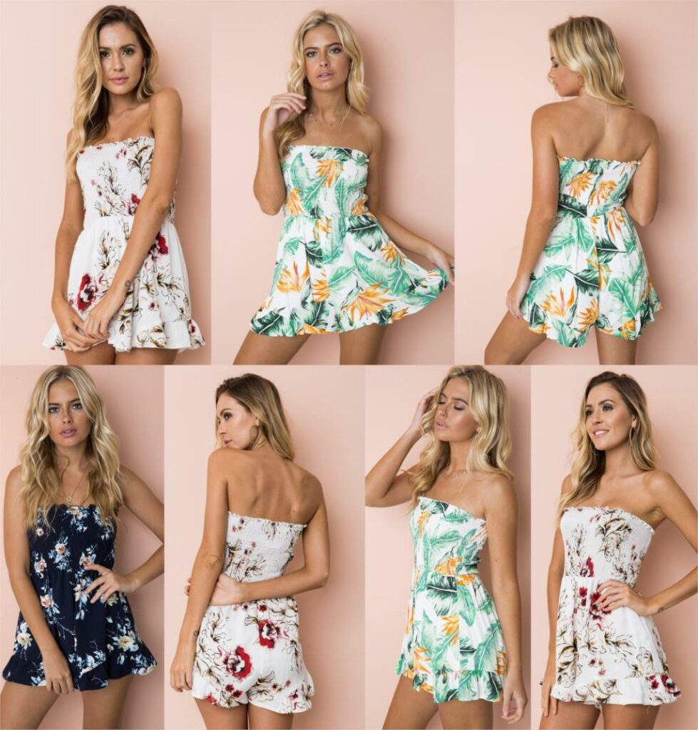 Floral Print Chiffon Playsuit Women 2018 Summer Sexy Off Shoulder