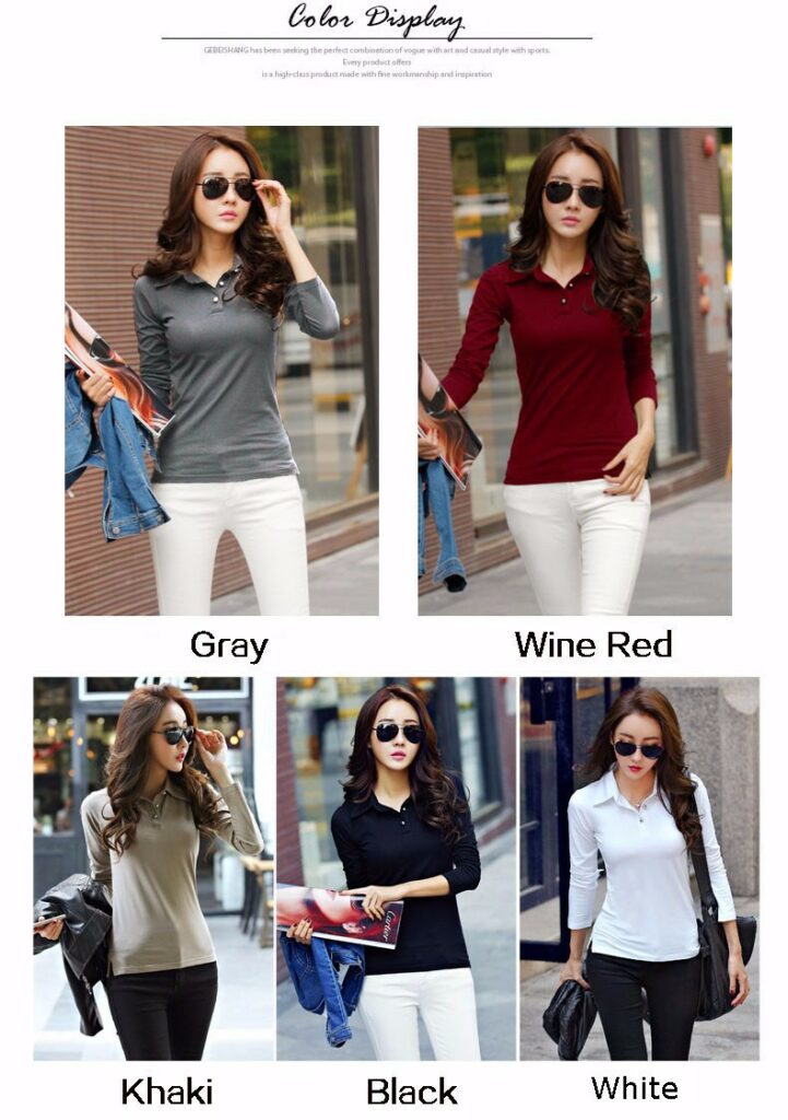 Polo Shirts AliExpress Winter Autumn Casual Polo Women 2019 New Long