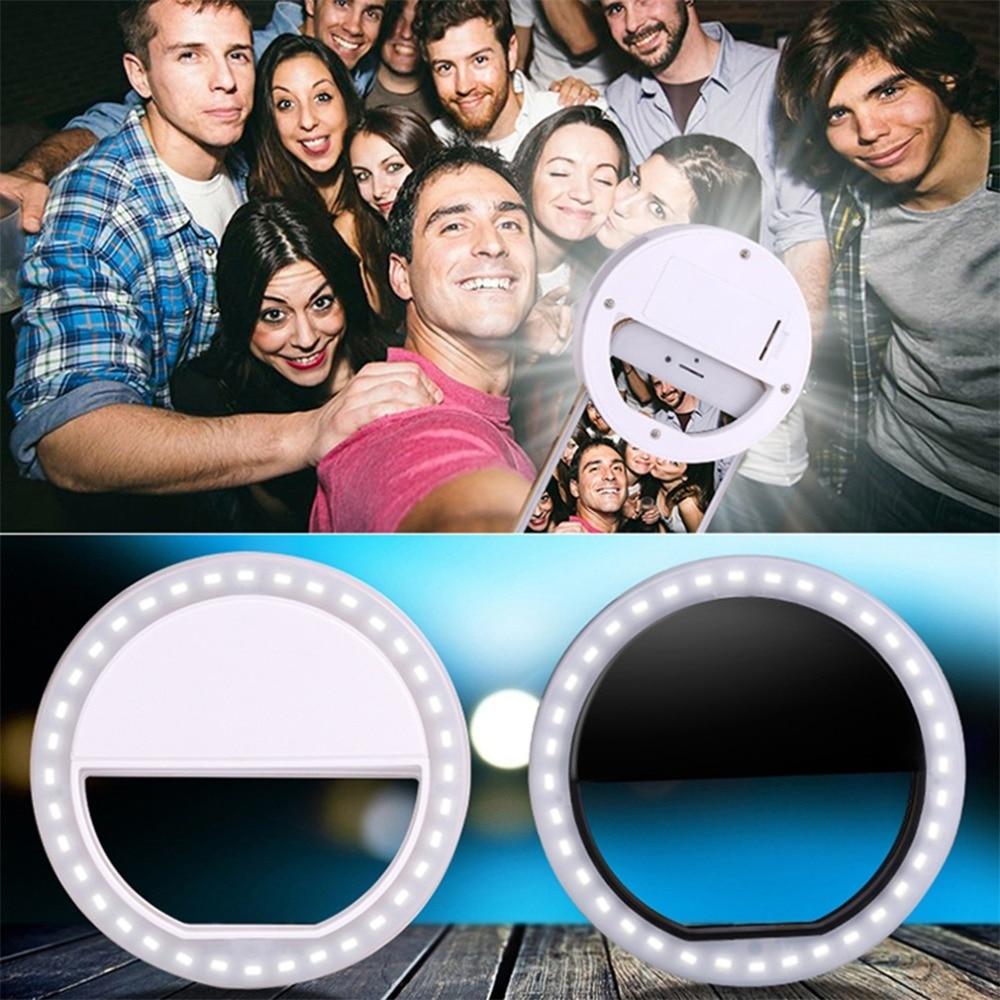 Mobile Phone Lenses AliExpress Universal Selfie LED Ring Flash Light Portable