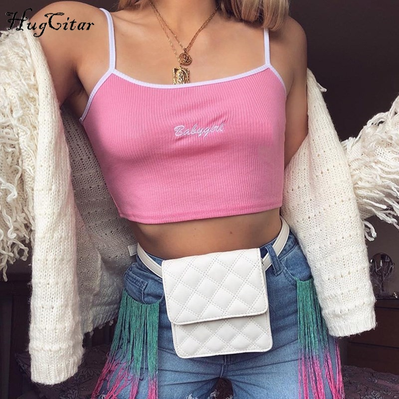Women's Clothing Camis Embroidery spaghetti straps patchwork sexy crop