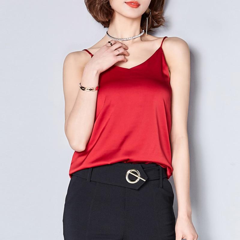 Women's Clothing Camis Silk Crop Top Women Camisole 2019 Summer