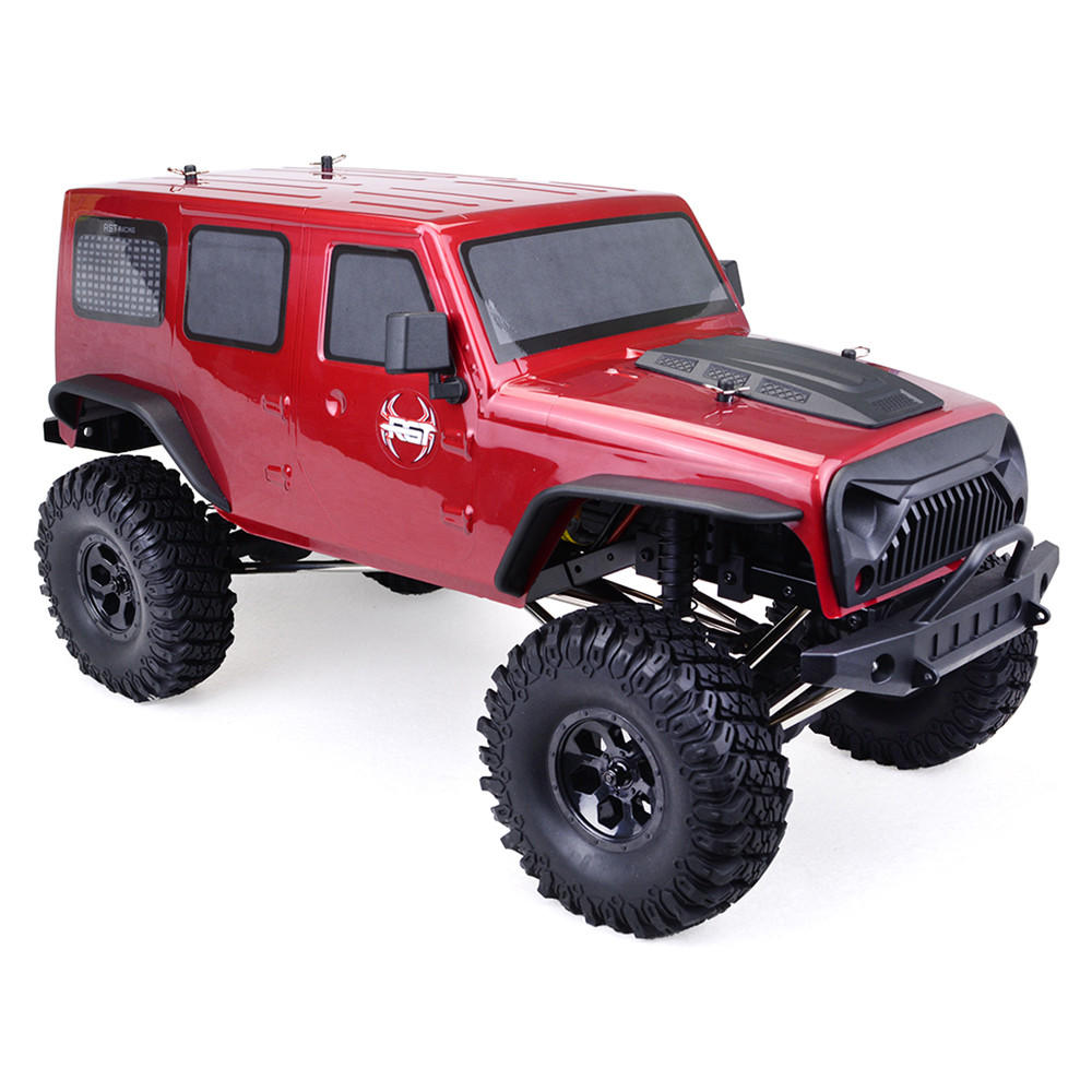 RGT EX86100 1/10 2.4G 4WD 510mm Brushed Rc Car Off-road Monster Truck Rock Crawler RTR Toy - Red