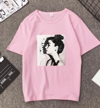 New Fashion T shirt Woman Spring Summer Girls Print Short