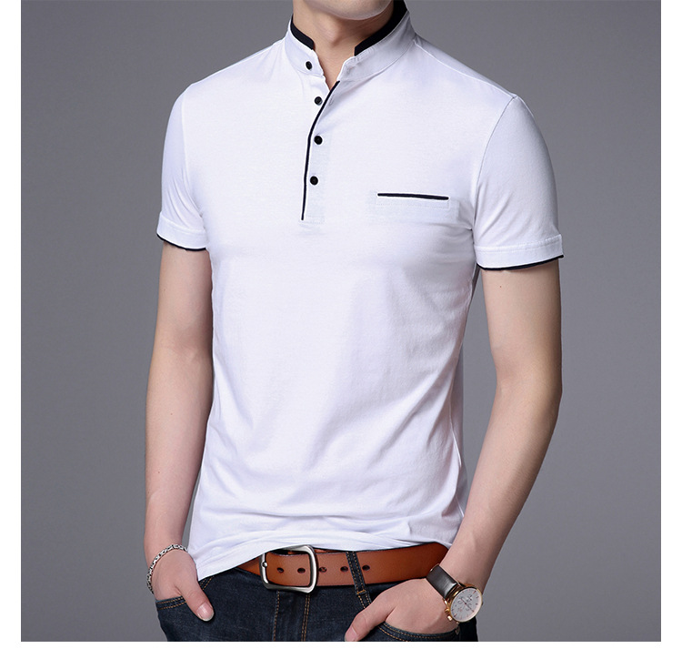 High Quality  Mens short Sleeve Solid