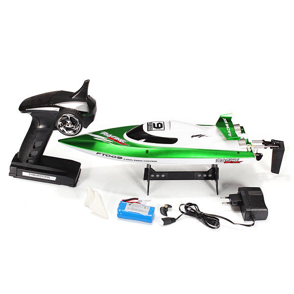 Feilun FT009 2.4G 4CH Water Cooling High Speed Racing RC Boat - Green
