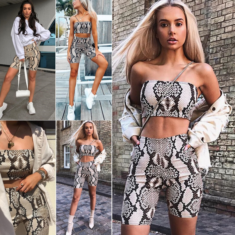 Suits & Sets AliExpress  Womens Autumn Casual Shinny Tube Top Shorts