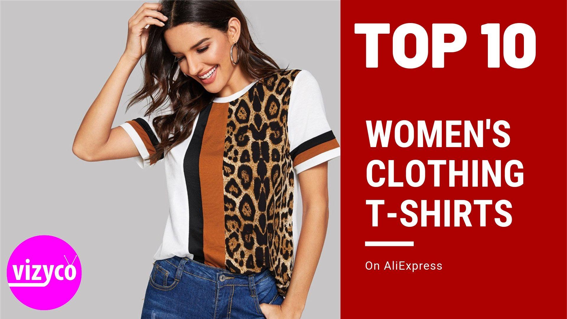 Women T-Shirts AliExpress Top 10 on Women's Clothing | vizyco