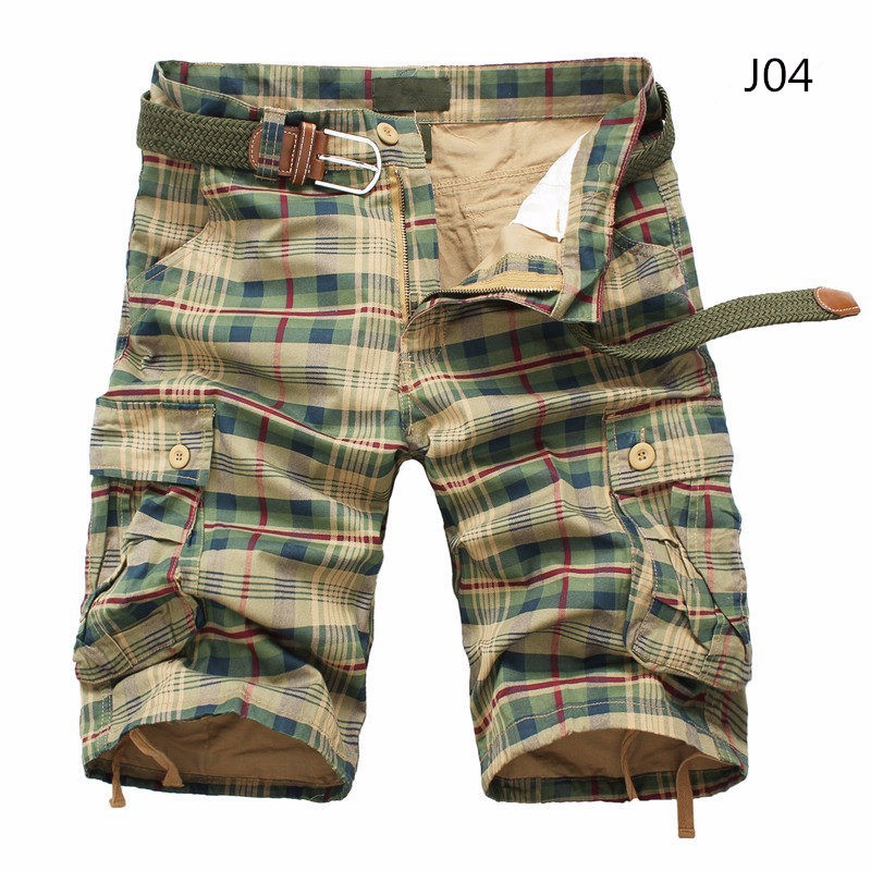 Men Shorts 2019 Fashion Plaid Beach Shorts Mens Casual Camo