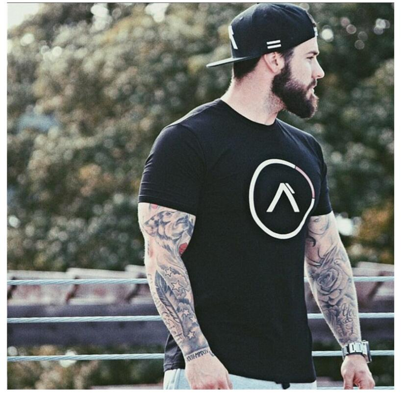 Men's T Shirts AliExpress Cotton Breathable Mens Short Sleeve Fitness
