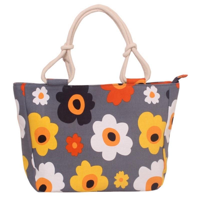 2019 Fashion Folding Women Big Size Handbag Tote Ladies Casual Flower Printing Canvas Graffiti Shoulder Bag Beach Bolsa Feminina