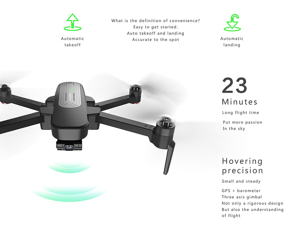 Hubsan H117S Zino GPS 5G WiFi 1KM FPV with 4K UHD Camera 3-Axis Gimbal RC Drone Quadcopter RTF - White With Storage Bag Two Batteries