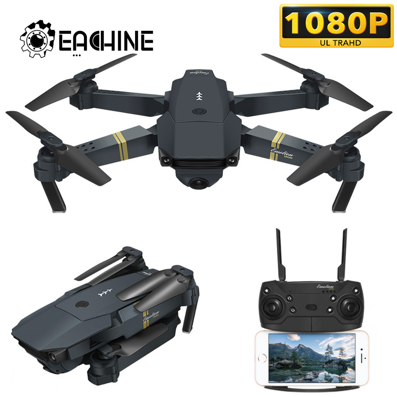 Eachine E58 WIFI FPV With 720P/1080P HD Wide Angle Camera High Hold Mode Foldable RC Drone Quadcopter RTF - 2.0MP 720P Wide Angle Three Batteries Without Storage Bag