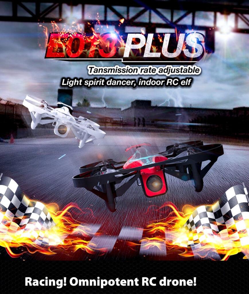 Eachine E013 Plus Micro FPV Racing Drone Anti-Turtle Mode w/ 5.8G 48CH 1000TVL Camera VR006 Goggles - White With Goggles Three Batteries