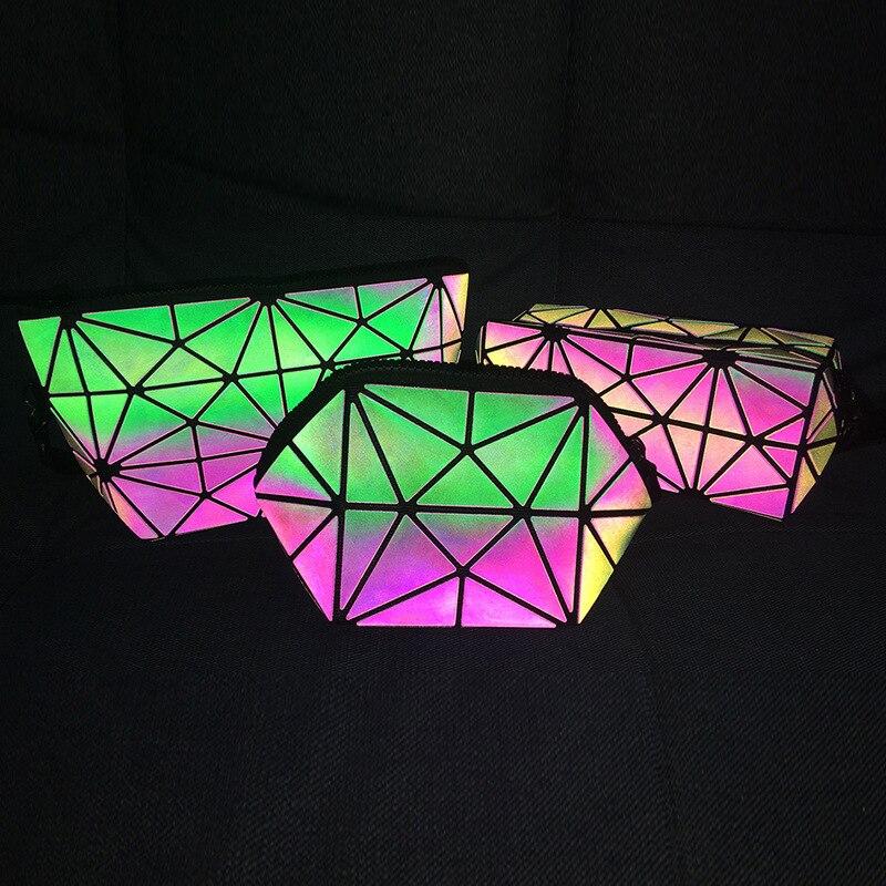 DIOMO luxury clutch bag women bags designer girls fashion Luminous Geometry purse ladies bag make up wristlets female evening