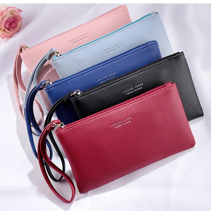 Women Wallet Long Fashion Zipper Clutch Hand Bag 2019 New Mobile Phone Bag Card Holder Coin Purse Thin Wallet