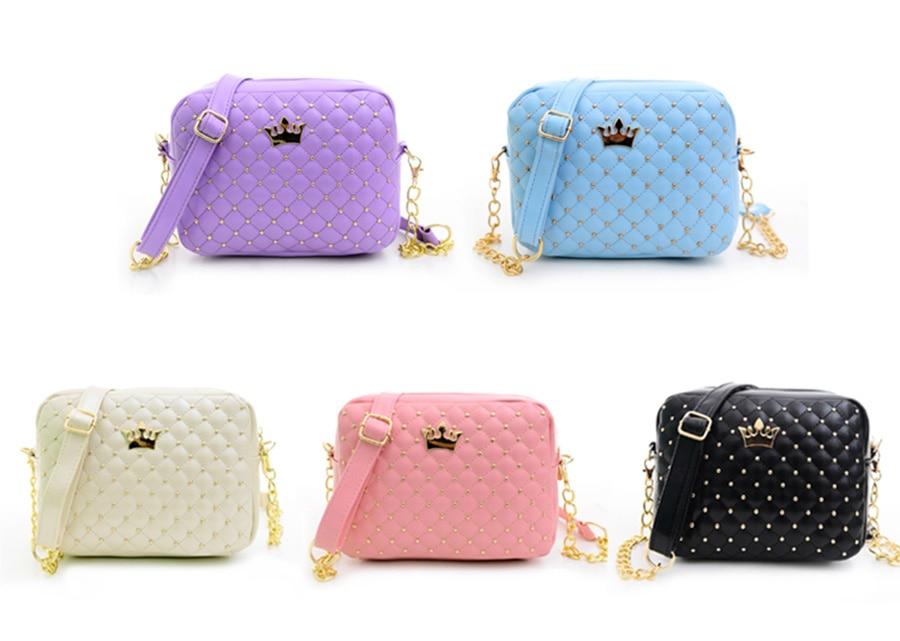 Mara's Dream Small Women Bag Fashion Handbag With Crown Mini Rivet Shoulder Bag
