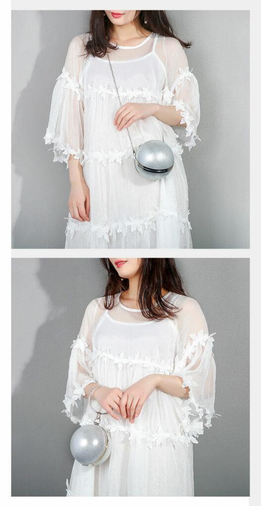 Arsmundi Famous Designer Women Evening Bag Creative Ladies Handbag Luxury Clutch Bag Small Round Fashion Chain Messener Bags