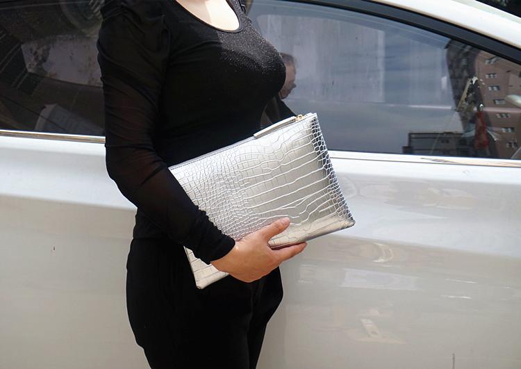 Fashion crocodile women's clutch bag pu leather women envelope evening bag 2019 new female Clutches Handbag bolsa feminina purse