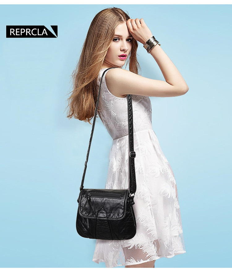 REPRCLA Brand Designer Women Messenger Bags Crossbody Soft PU Leather Shoulder Bag