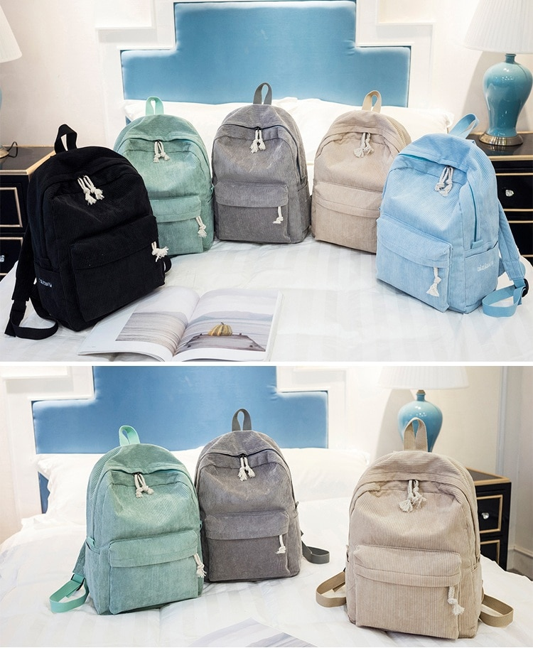 Miyahouse Preppy Style Soft Fabric Backpack Female
