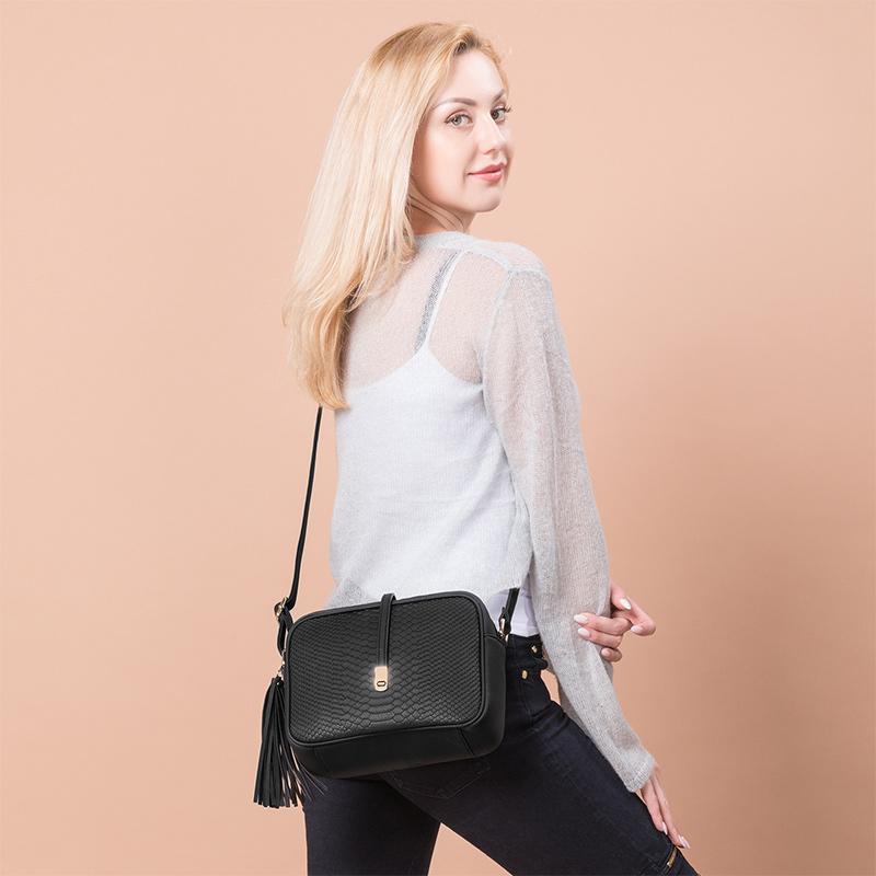 REALER brand small shoulder bag for women messenger bags ladies PU leather handbag