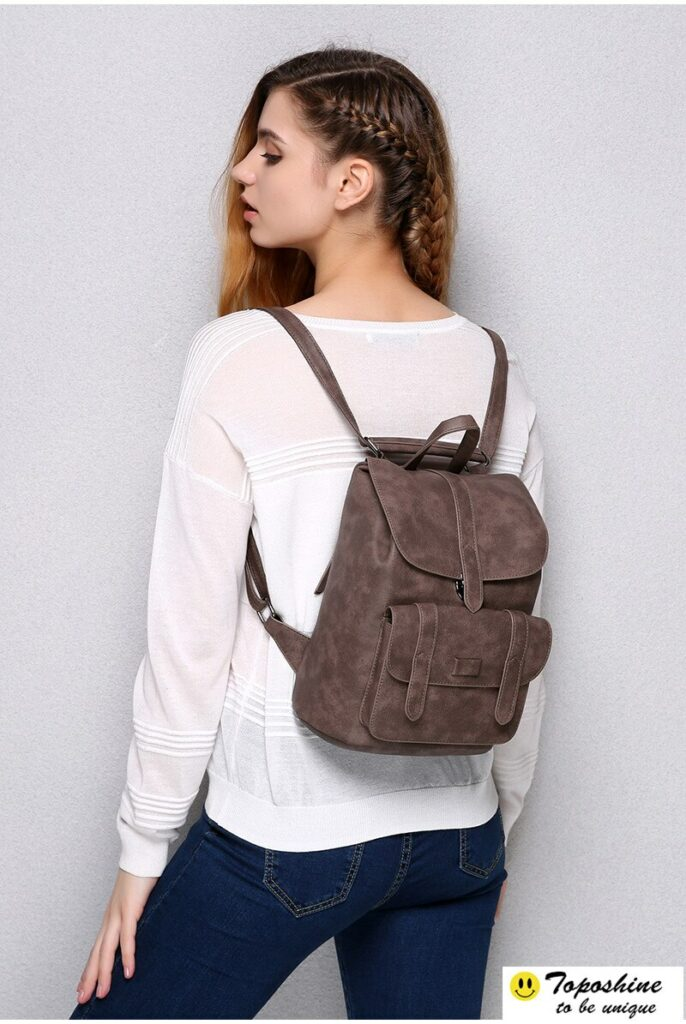 Toposhine Famous Brand Backpack Women Backpacks Solid Vintage
