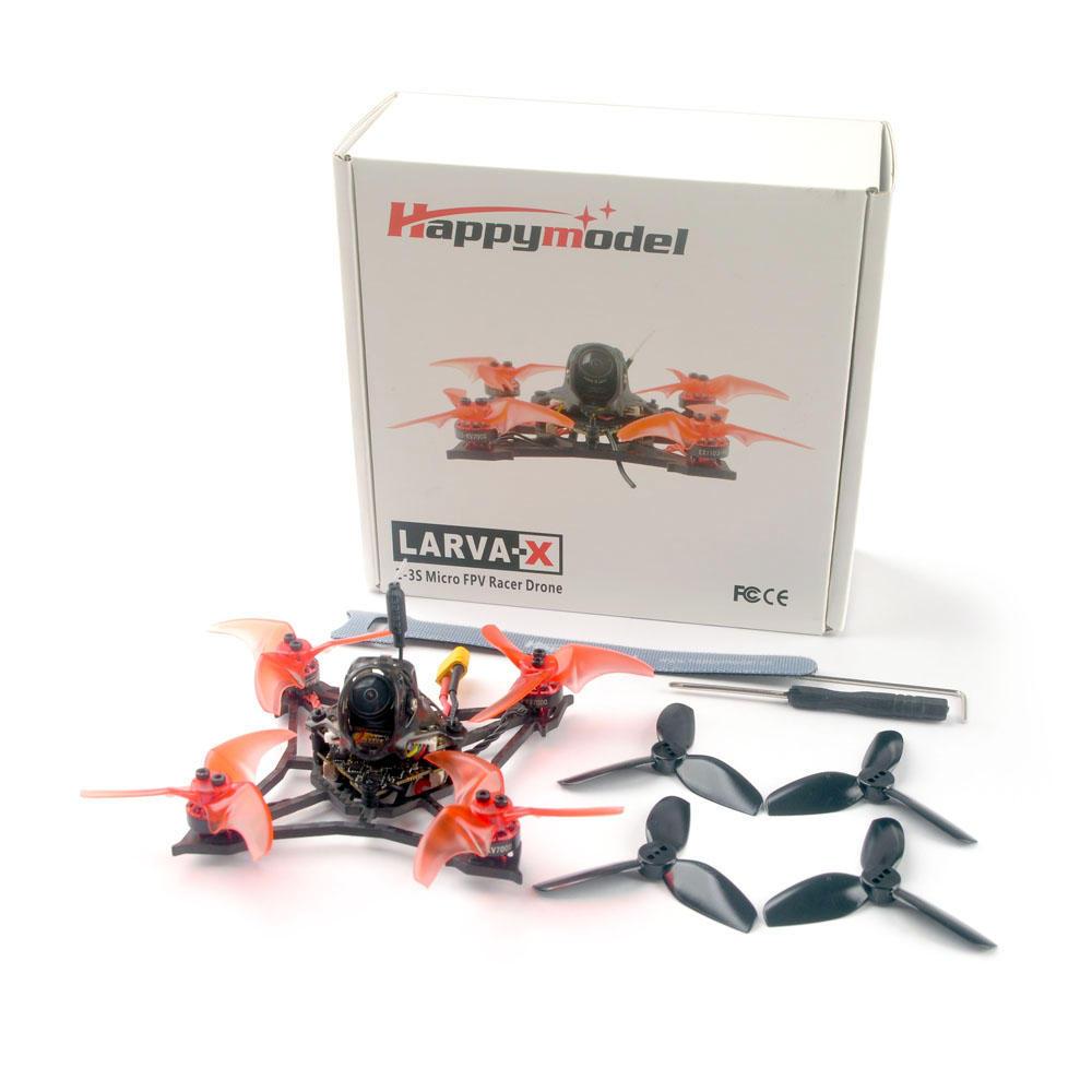 Happymodel Larva X 100mm Crazybee F4 PRO V3.0 2-3S 2.5 Inch FPV Racing Drone BNF w/ Runcam Nano2 Camera - FrSky R-XSR Receiver