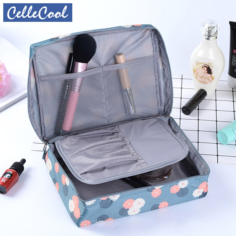 Hot Sale Multifunction travel Cosmetic Bag Women Makeup Bags Toiletries Organizer Waterproof Female Storage Make up Cases