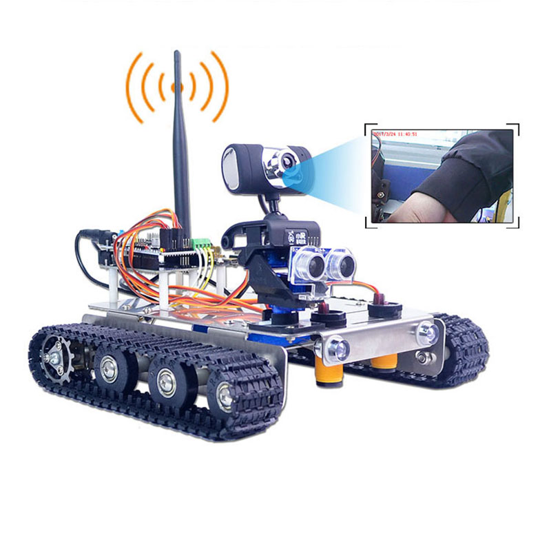 Xiao R DIY GFS WiFi Wireless Video Control Smart Robot Tank Car Kit for Arduino UNO