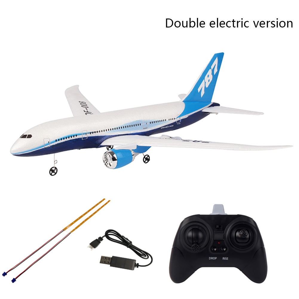 QF008-Boeing 787 550mm Wingspan 2.4GHz 3CH EPP RC Airplane Fixed Wing RTF Scale Aeromodelling - 2pcs batteries