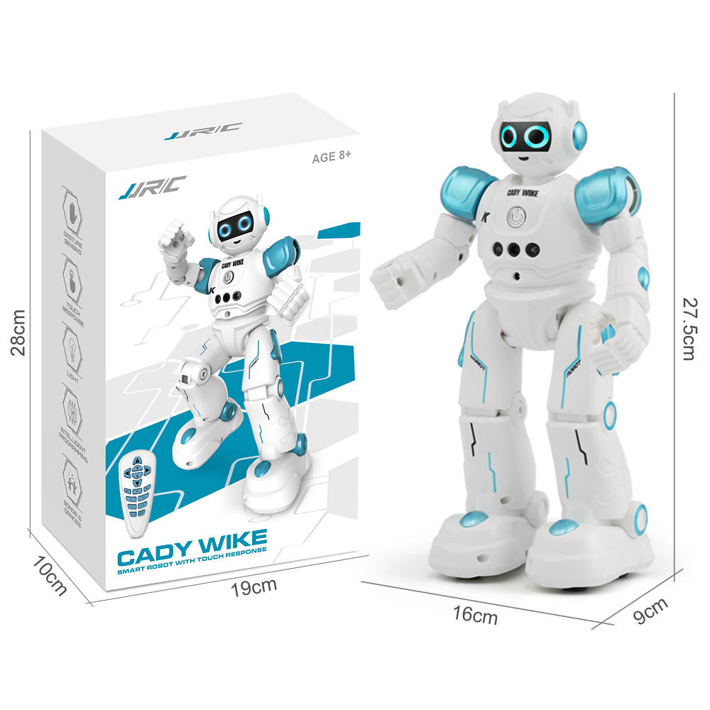 4. JJRC R11 CADY WIKE Smart RC Robot Gesture Sensing Touch Intelligent Programming Dancing Patrol Toy - Blue